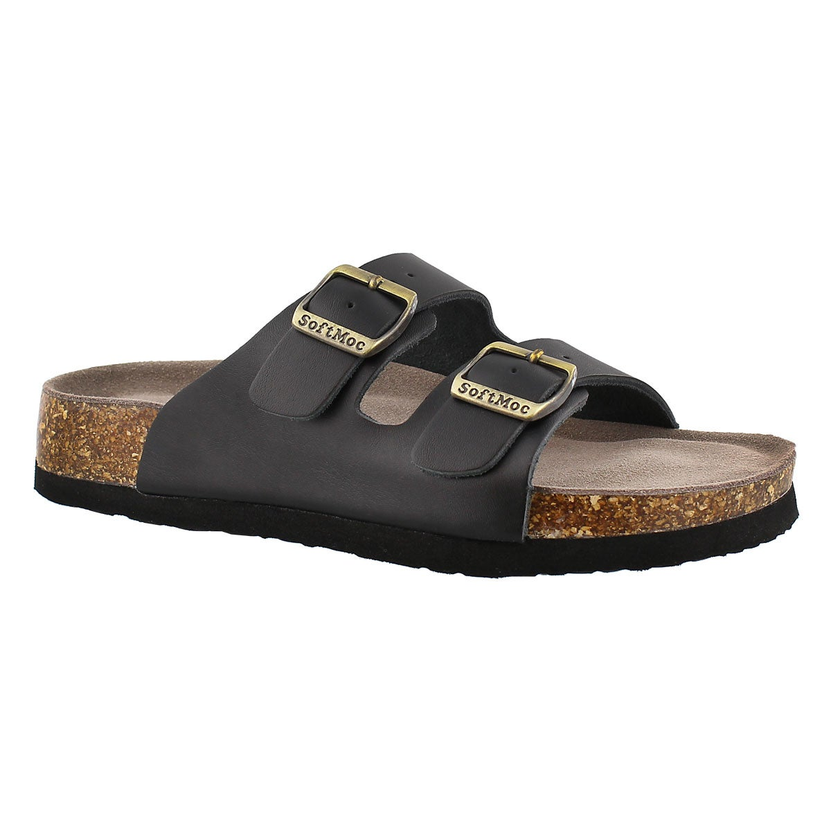 Women's ANNA 3 black memory foam footbed sandals