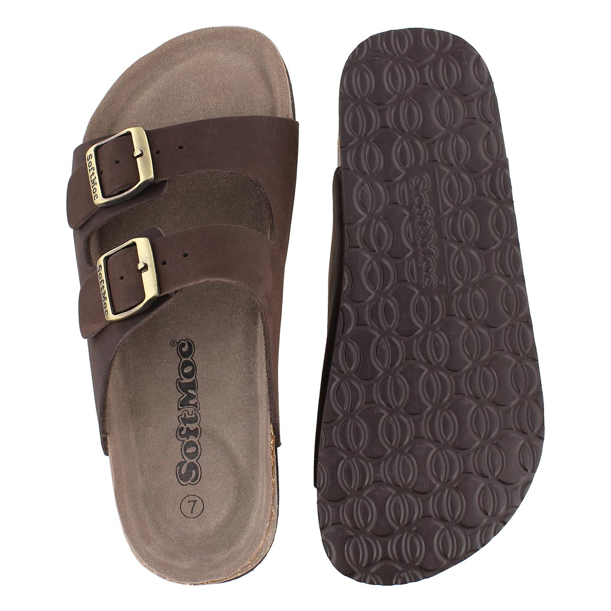 Sandale mousse visc ANNA3, brun crz, fem