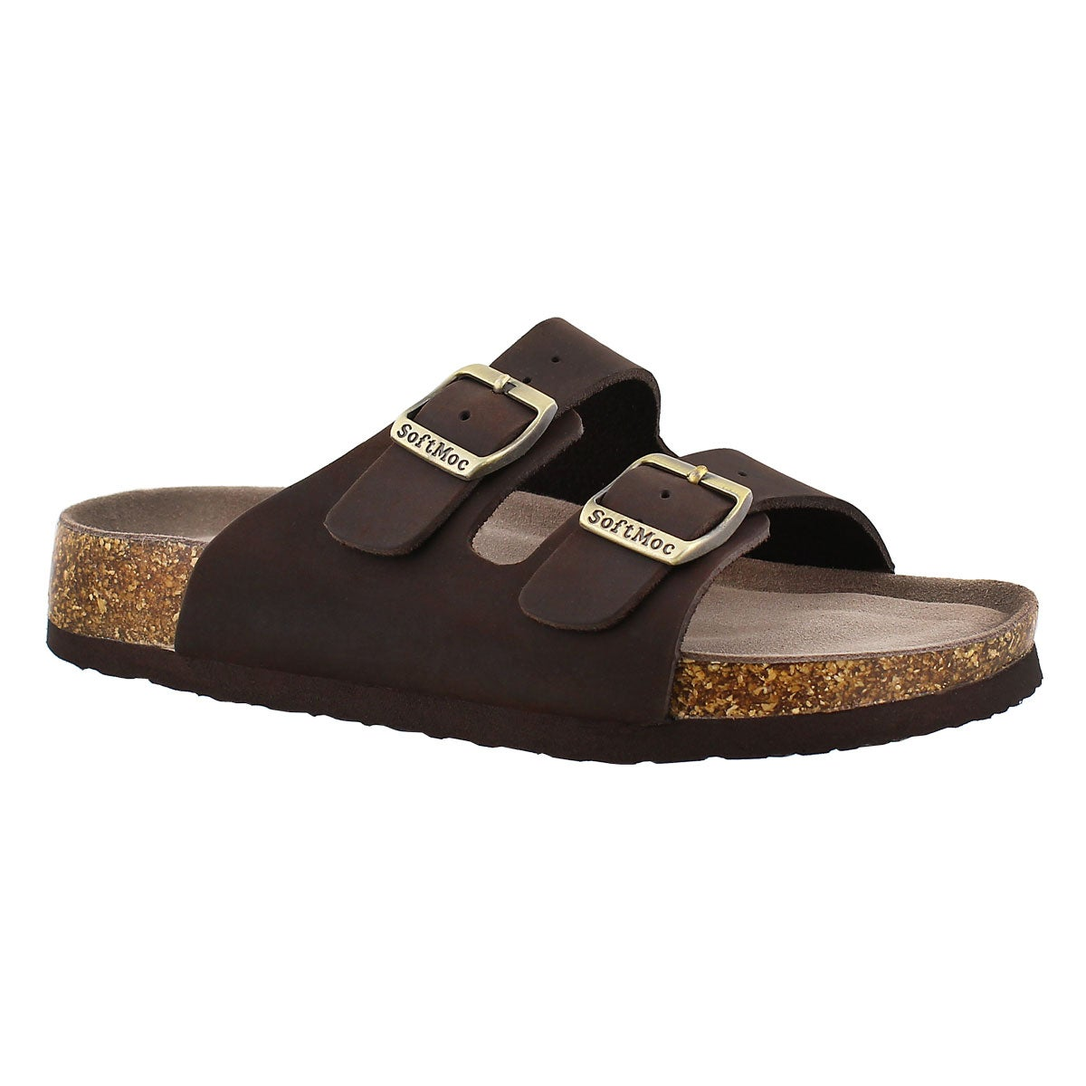 Women's ANNA 3 brown memory foam footbed sandals
