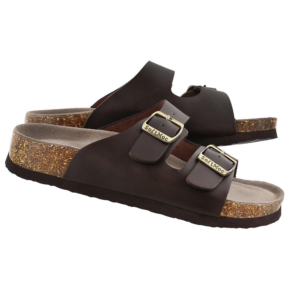 Sandale mousse visc ANNA 3, brun, fem