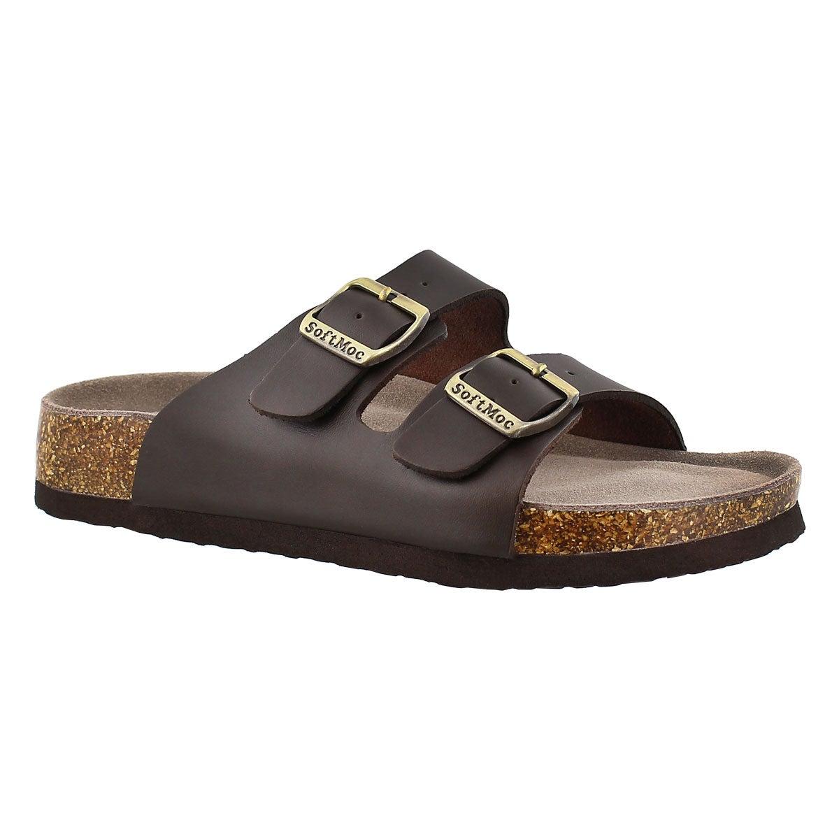 Lds Anna 3 brn memory footbed sandal