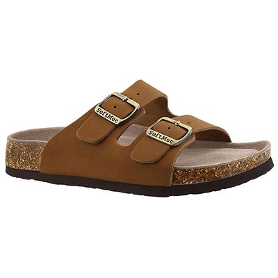 SoftMoc Women's ANNA 3 tan memory foam footbed sandals