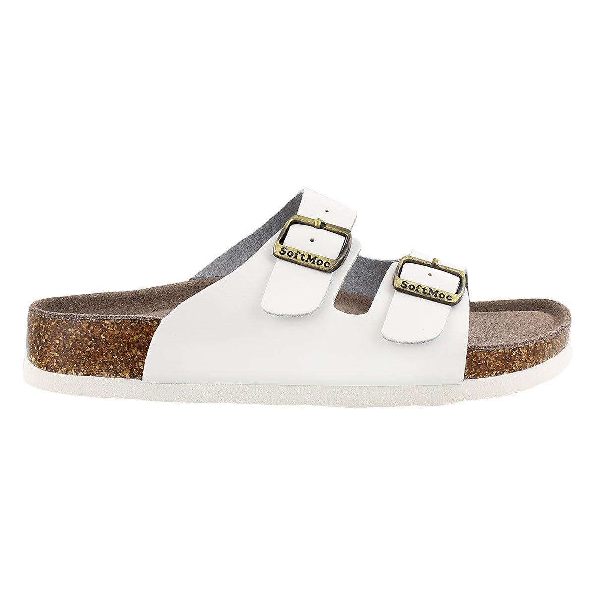 Lds Anna 3 white memory footbed sandal