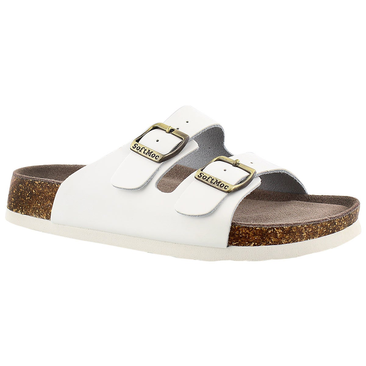 Women's ANNA 3 white memory foam footbed sandals