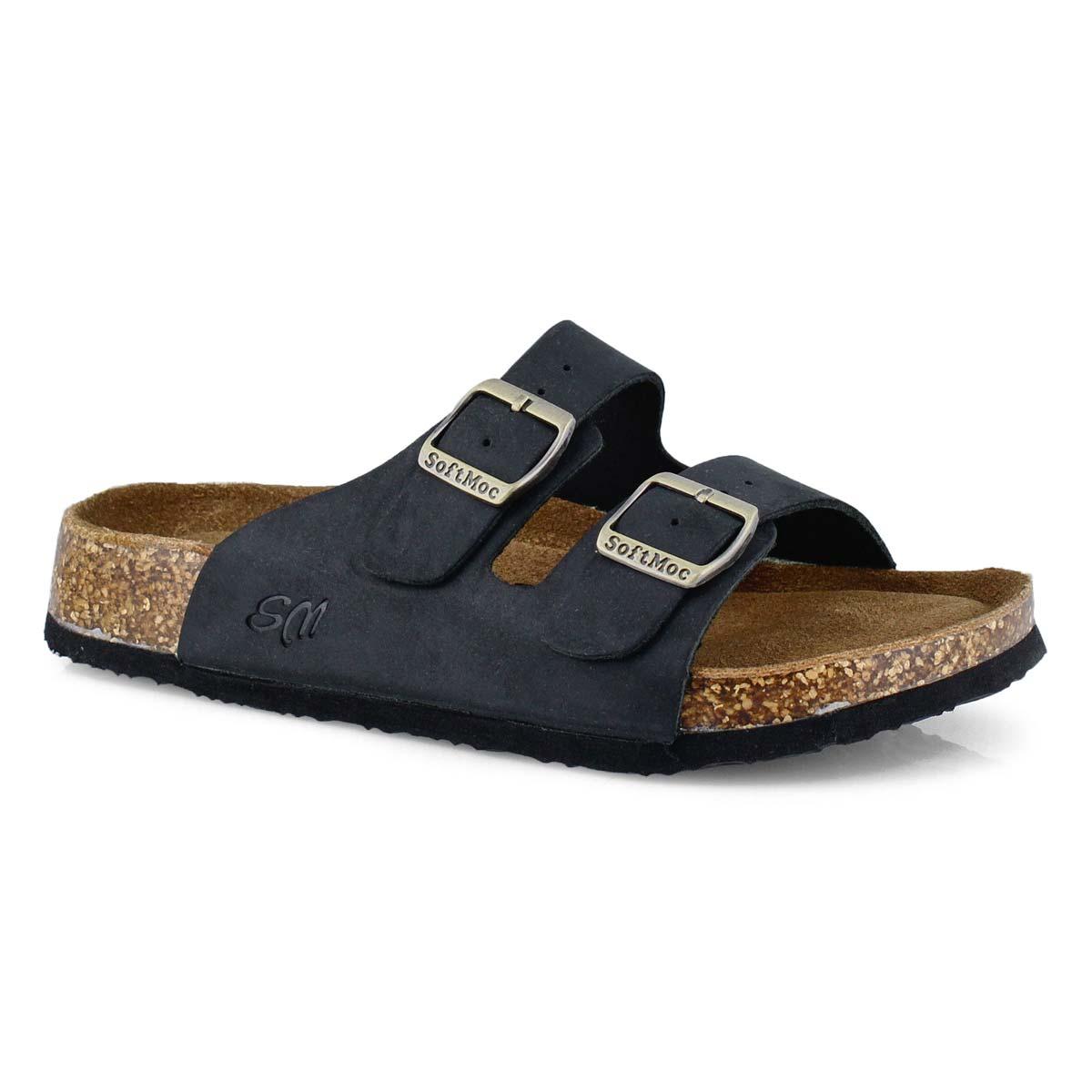 Women's ANNA 5 black memory foam slide sandals