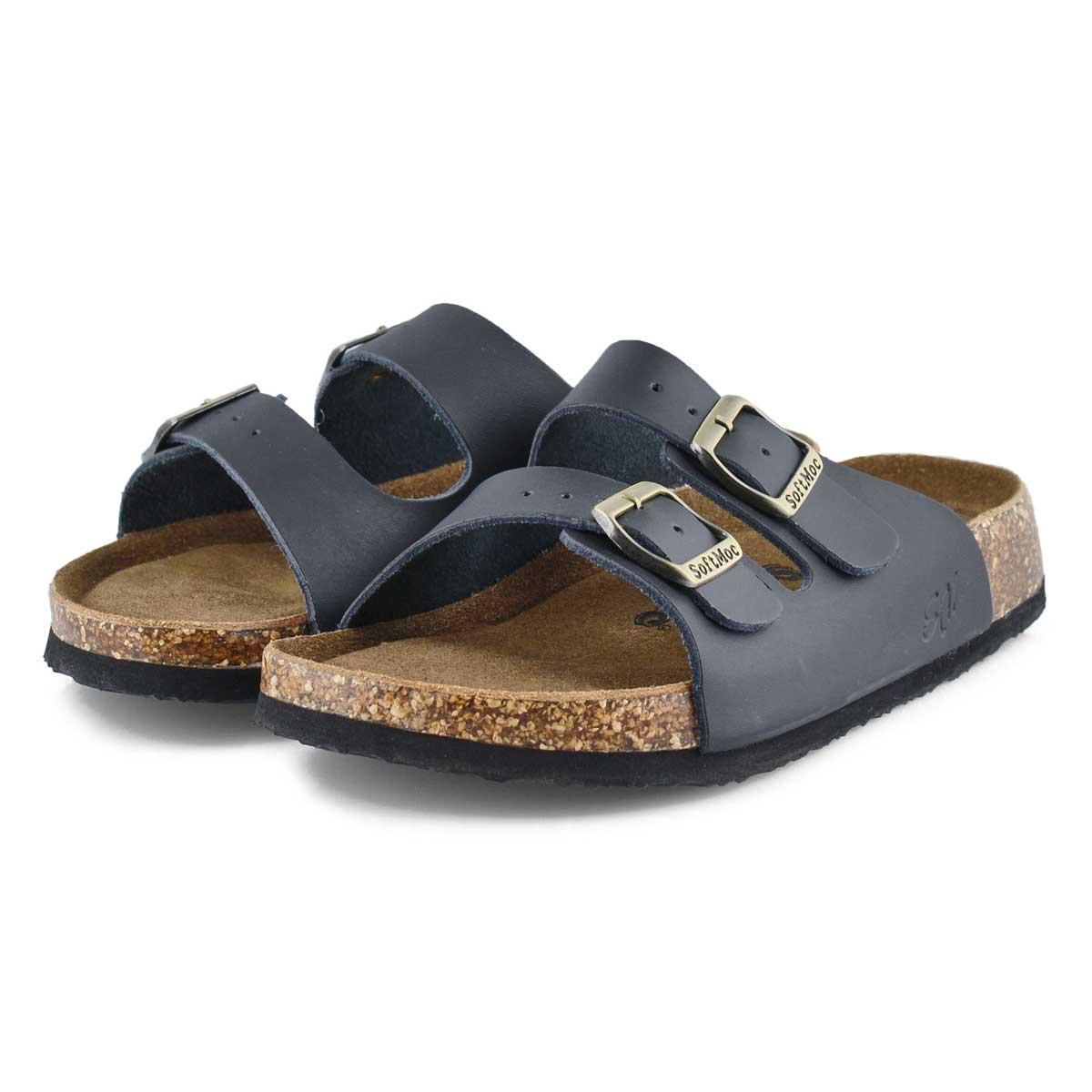 Lds Anna 5 blk memory foam slide sandal