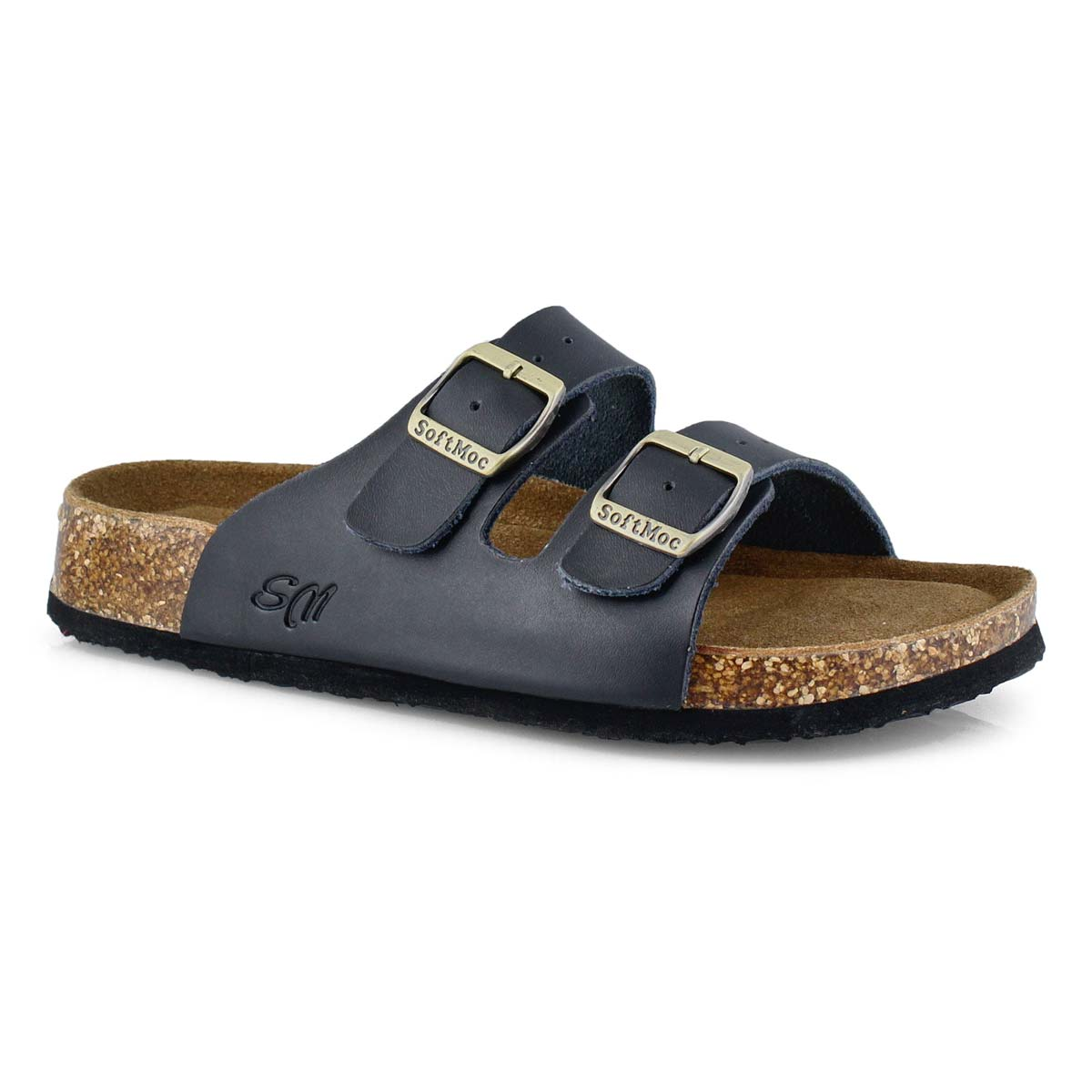 Women's ANNA 5 black memory foam slide sandals