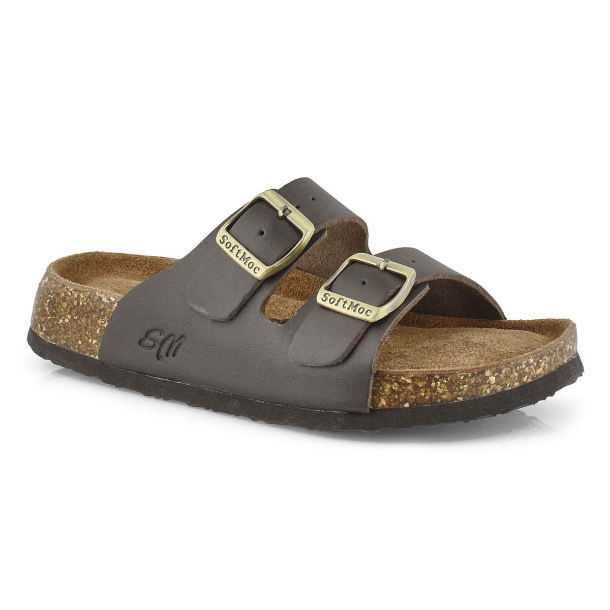 Lds Anna 5 brn memory foam slide sandal