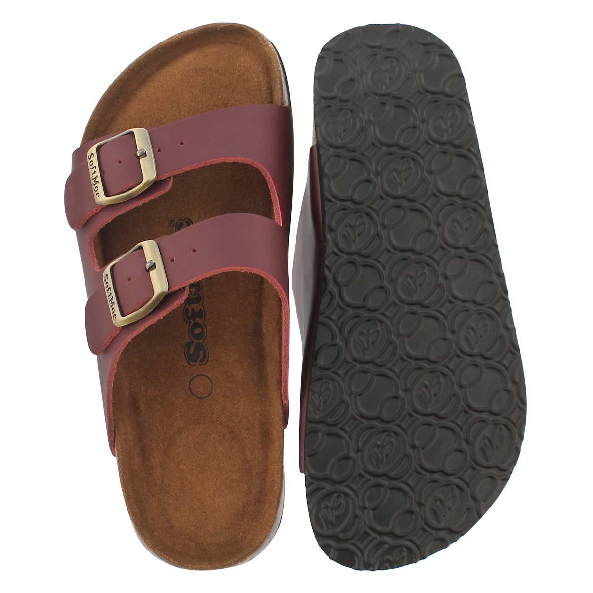 Lds Anna 5 burg memory foam slide sandal
