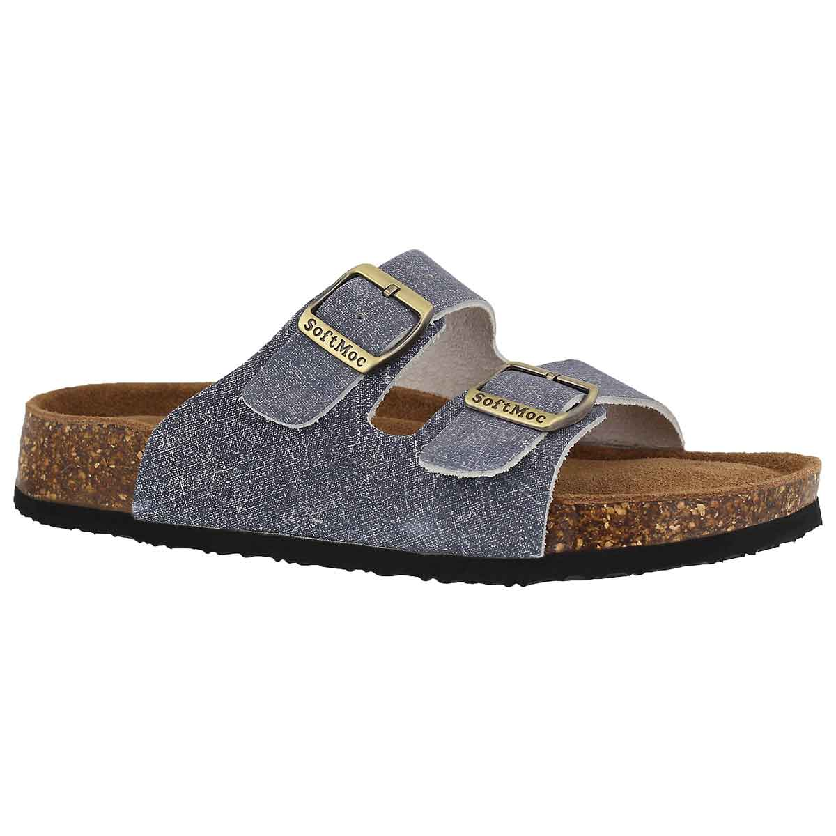 Women's ANNA 5 denim memory foam slide sandals