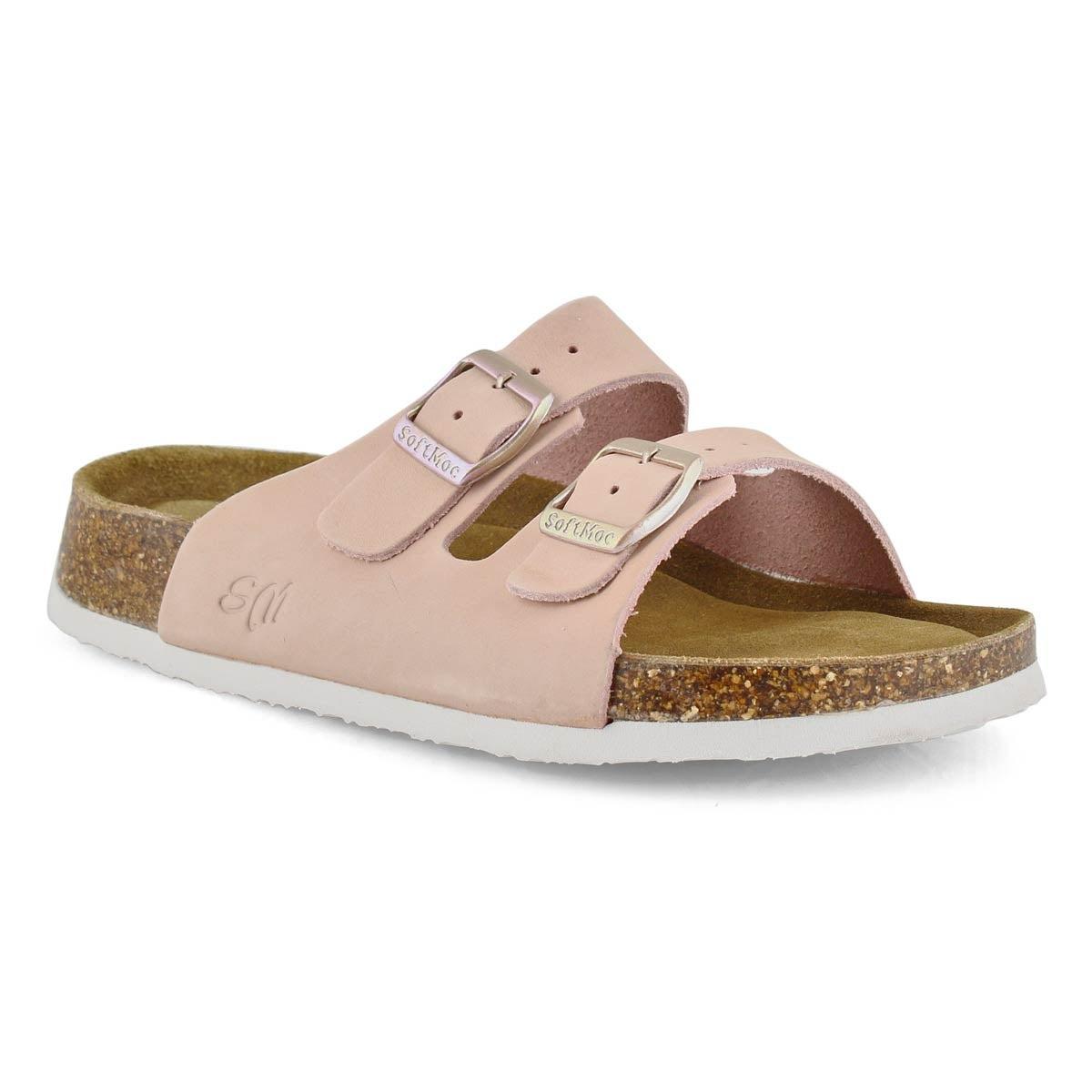 Lds Anna 5 mil pnk mem foam slide sandal