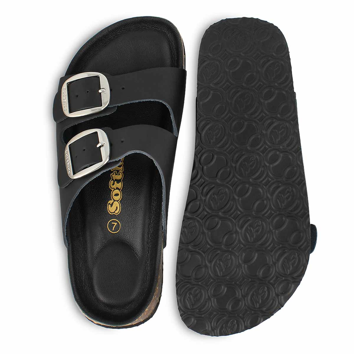 Lds Anna5 Smooth black slide sandal