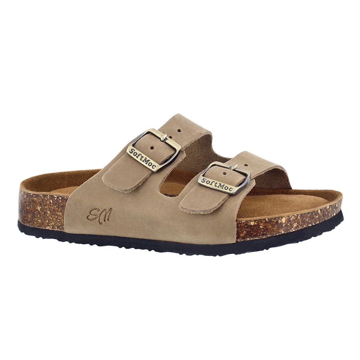 Women's ANNA 5 taupe memory foam slide sandals