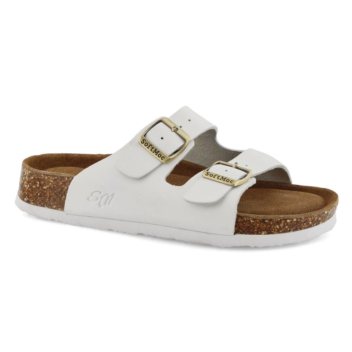 Women's ANNA 5 white memory foam sandals