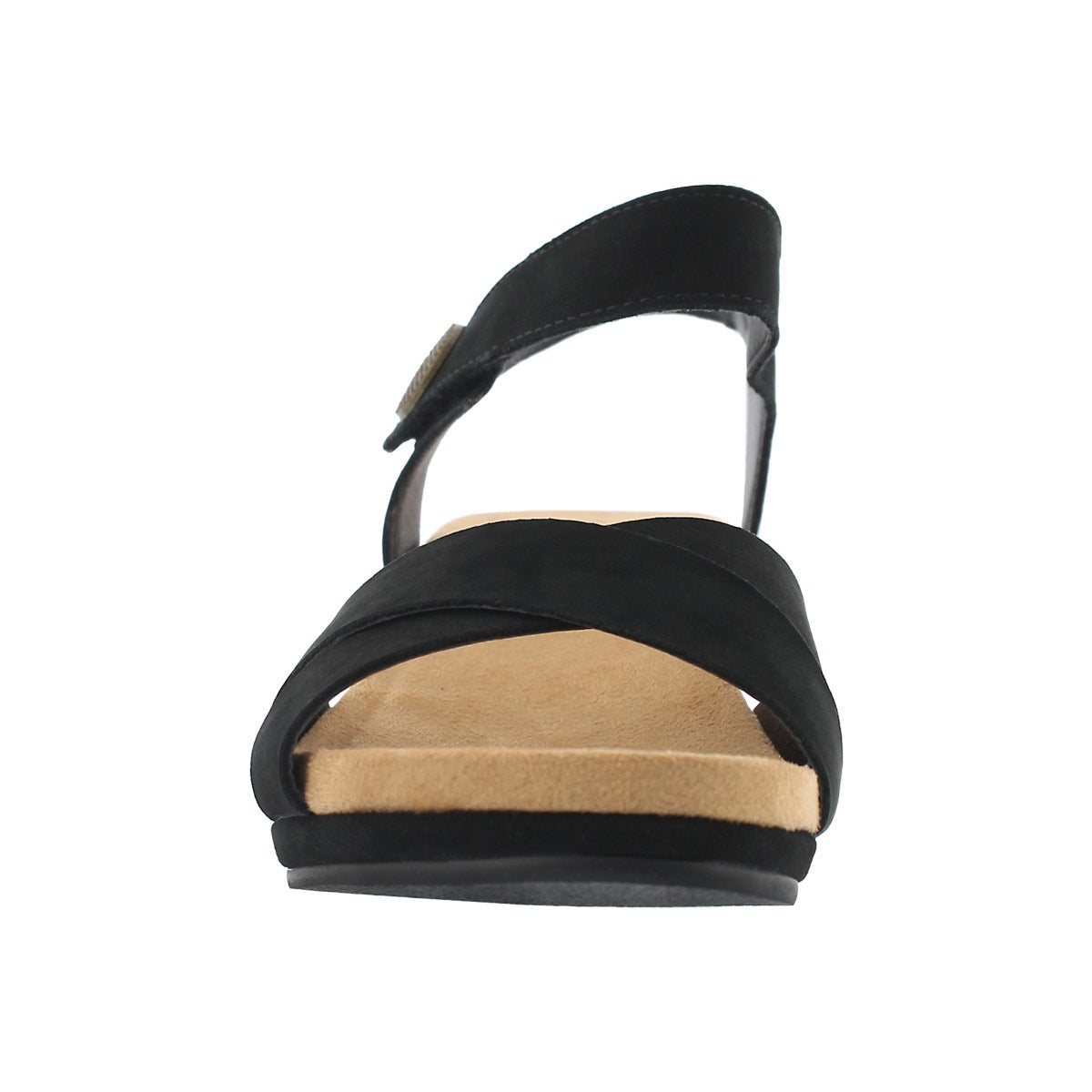 Lds Annalisa black casual wedge sandal