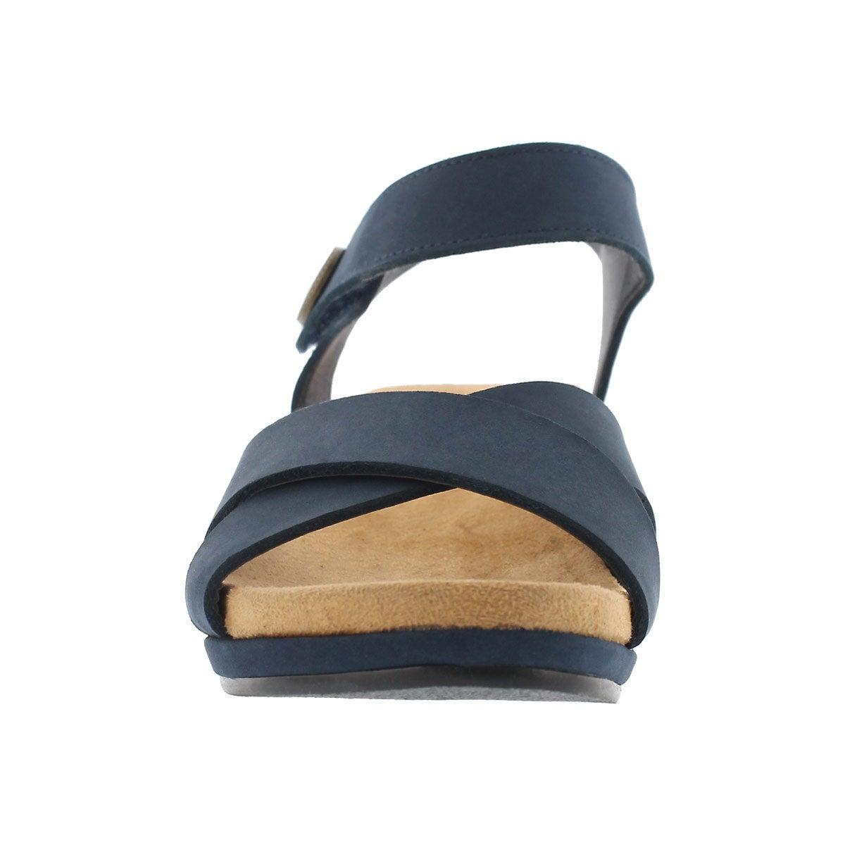 Lds Annalisa navy casual wedge sandal