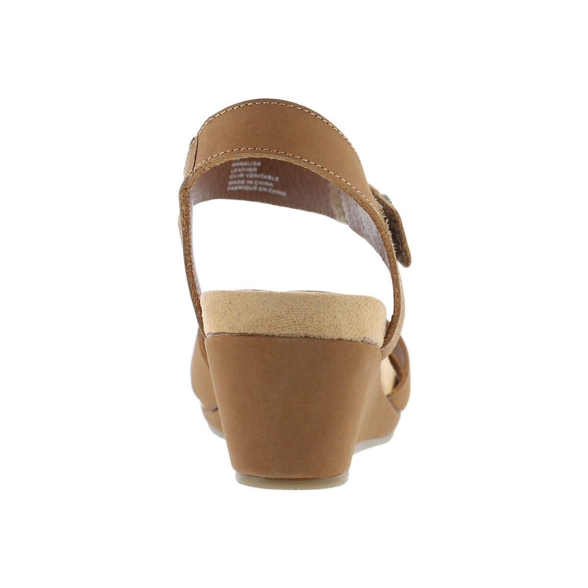 Lds Annalisa tan casual wedge sandal