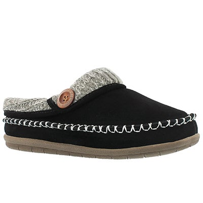Lds Annalise black open back slipper