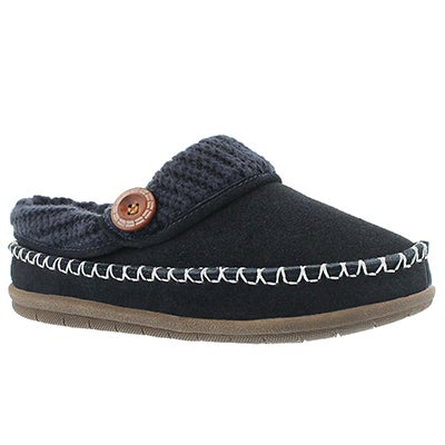 Foamtreads Women's ANNALISE navy open back slippers