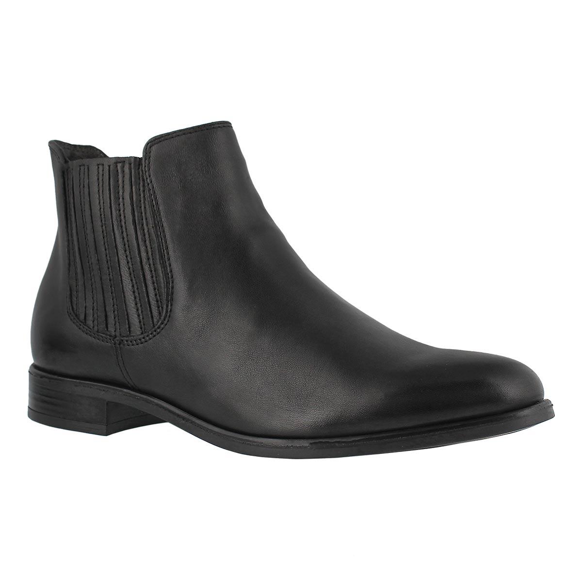 Lds April black slip on chelsea boot