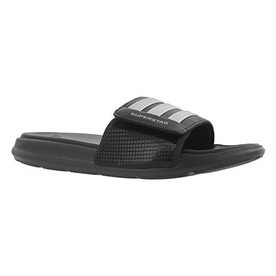 Mns Superstar 4G black/slver sport slide