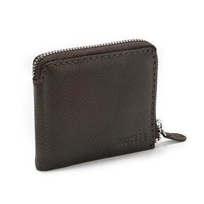 Roots Men's ARELIA 304 chocolate zip wallet