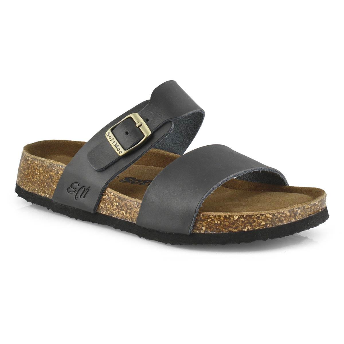 Women's ARIANNA 5 black memory foam slide sandals