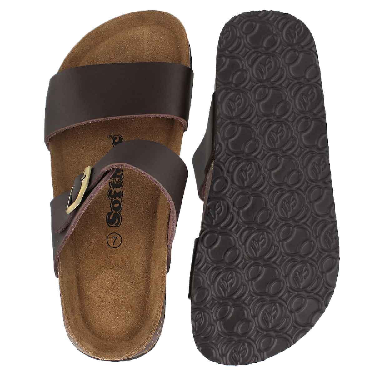 6b696c91ab4 Women's ARIANNA 5 brown memory foam slide sandals