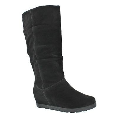 Lds Array black wtrpf tall zipper boot