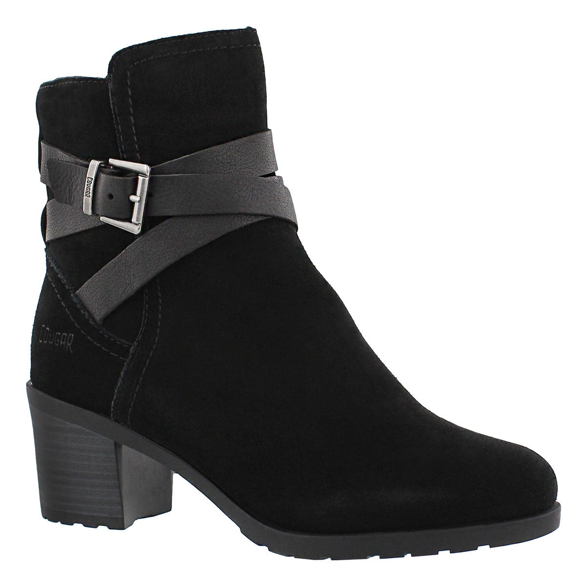 Women's ARVIDA black waterproof ankle boots