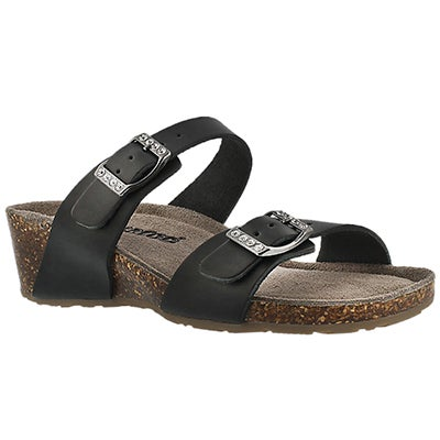 SoftMoc Women's ASHLYNN 2 black memory foam sandals