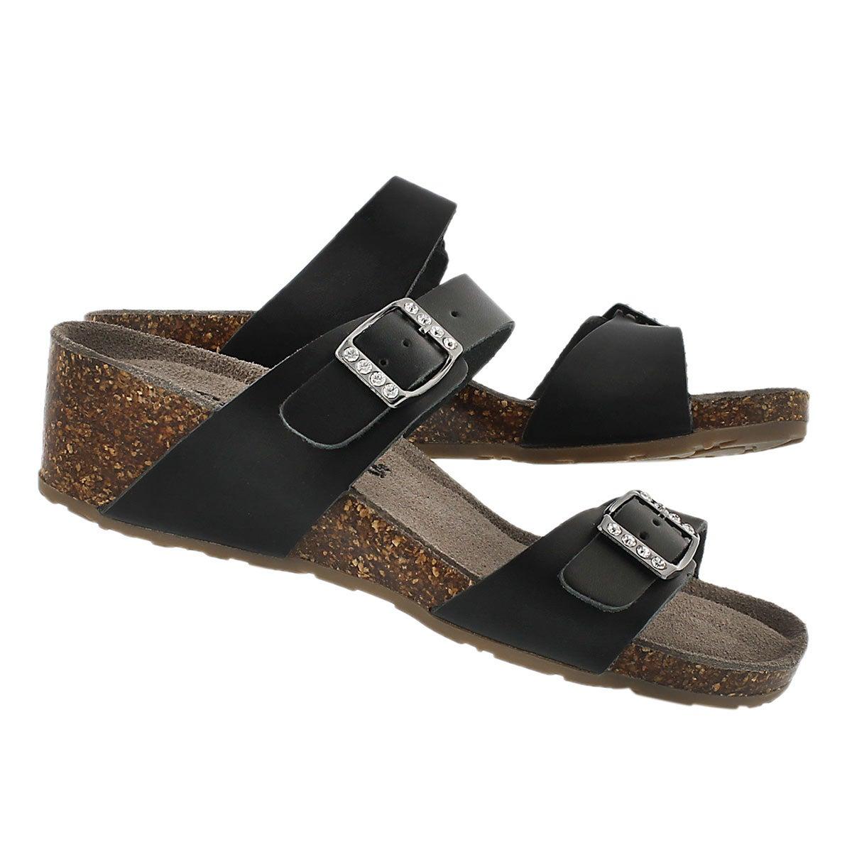 Lds Ashlynn 2 black memory foam sandal