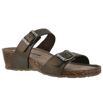 SoftMoc Women's ASHLYNN 2 gold memory foam sandals