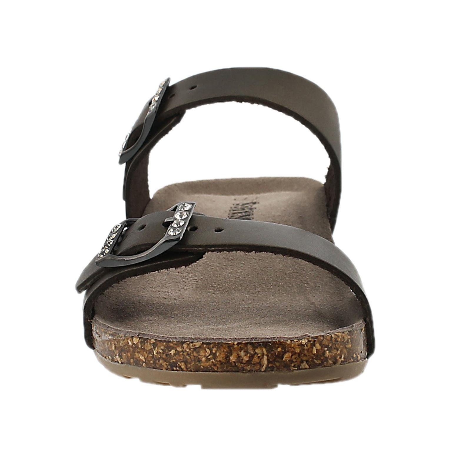 Lds Ashlynn 2 gold memory foam sandal