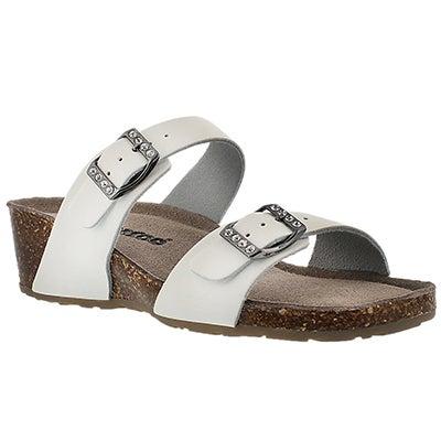 Lds Ashlynn 2 white memory foam sandal