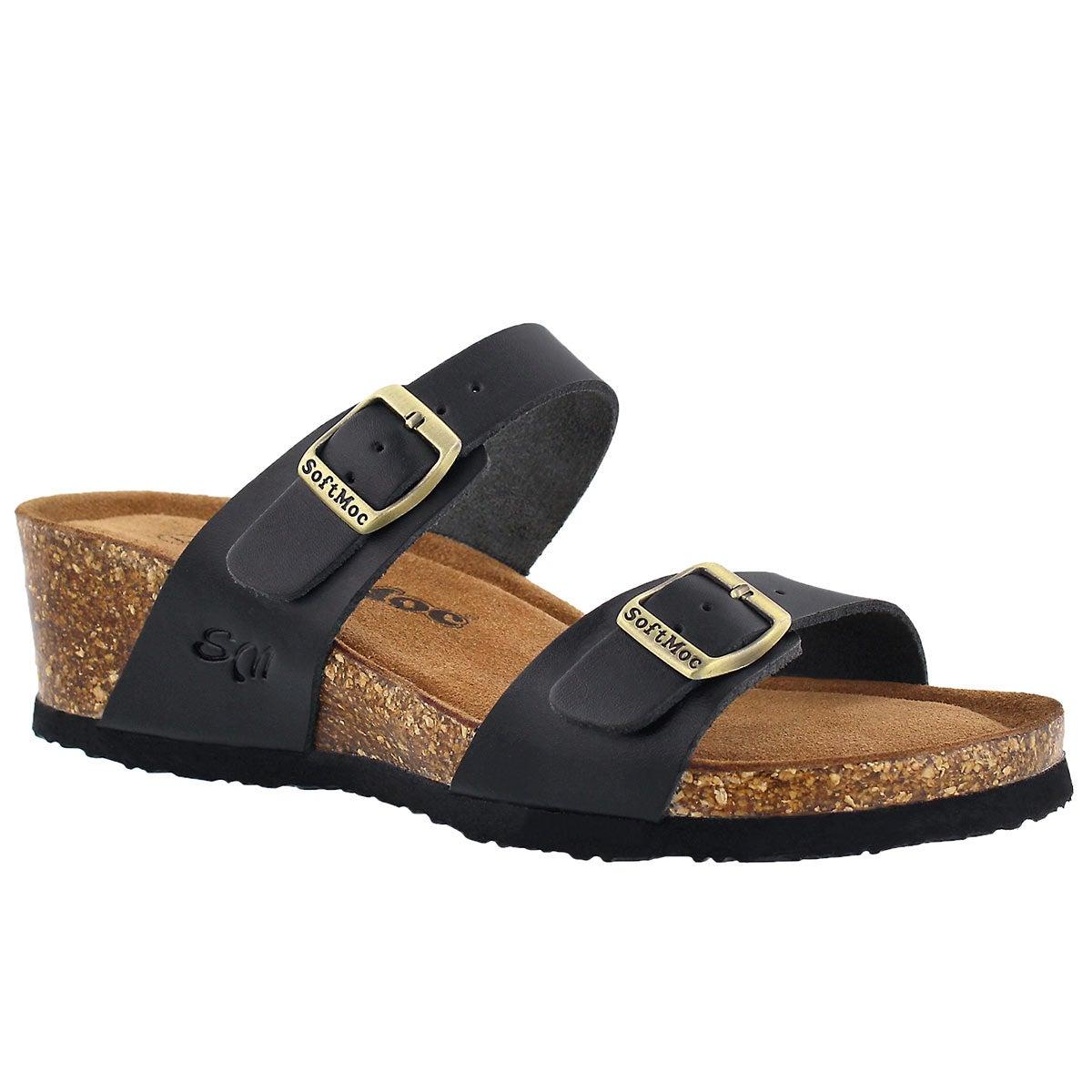 Women's ASHLYNN 5 black memory foam sandals