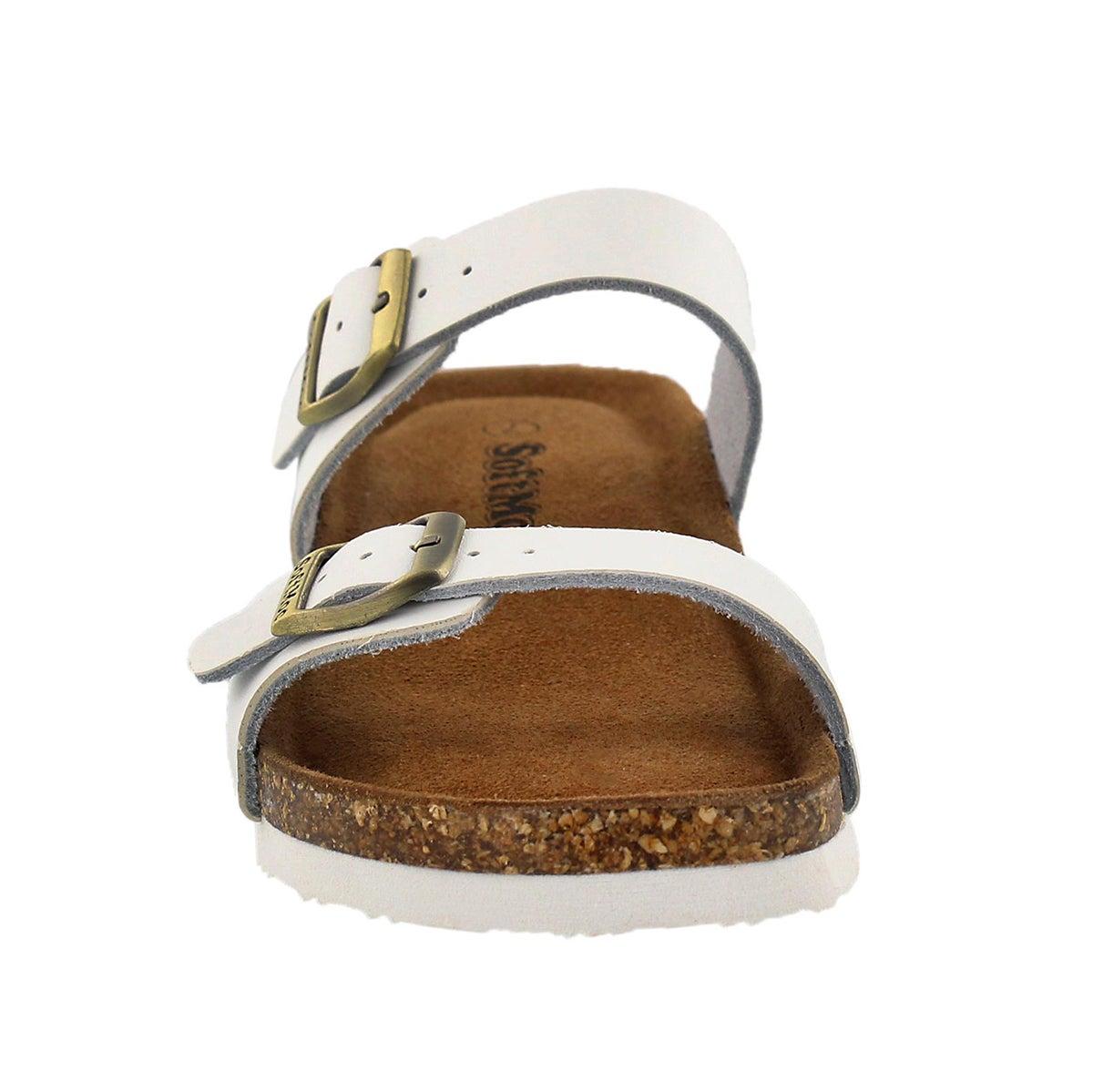 Lds Ashlynn 5 white memory foam sandal