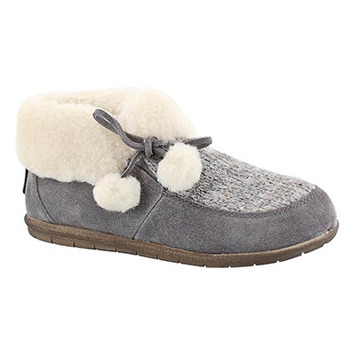 Foamtreads Women's ASPEN grey closed back slippers