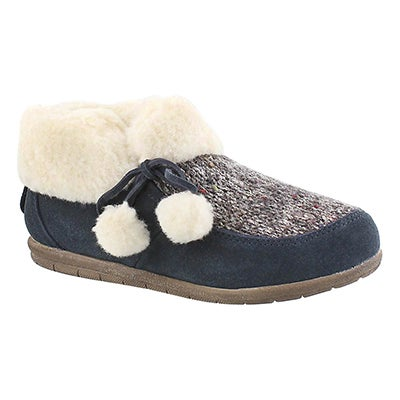 Foamtreads Women's ASPEN midnight closed back slippers
