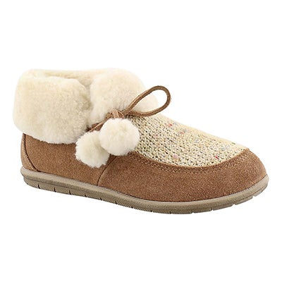 Foamtreads Women's ASPEN tobacco closed back slippers