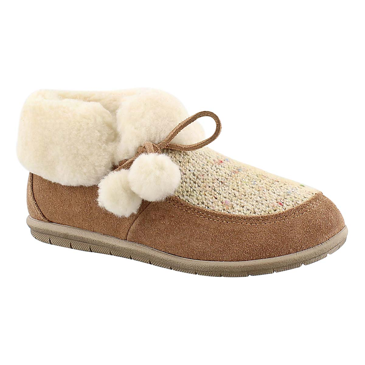 Women's ASPEN tobacco closed back slippers