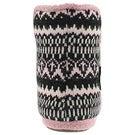 Lds Audrey grey/pink bootie slipper
