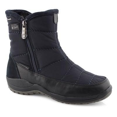 Lds Audrey navy short wtpf winter boot