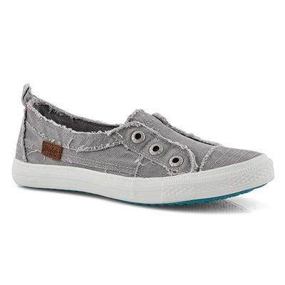 Lds Aussie grey slip on fashion sneakers