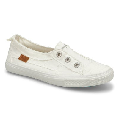 Lds Aussie wht slip on fashion sneakers