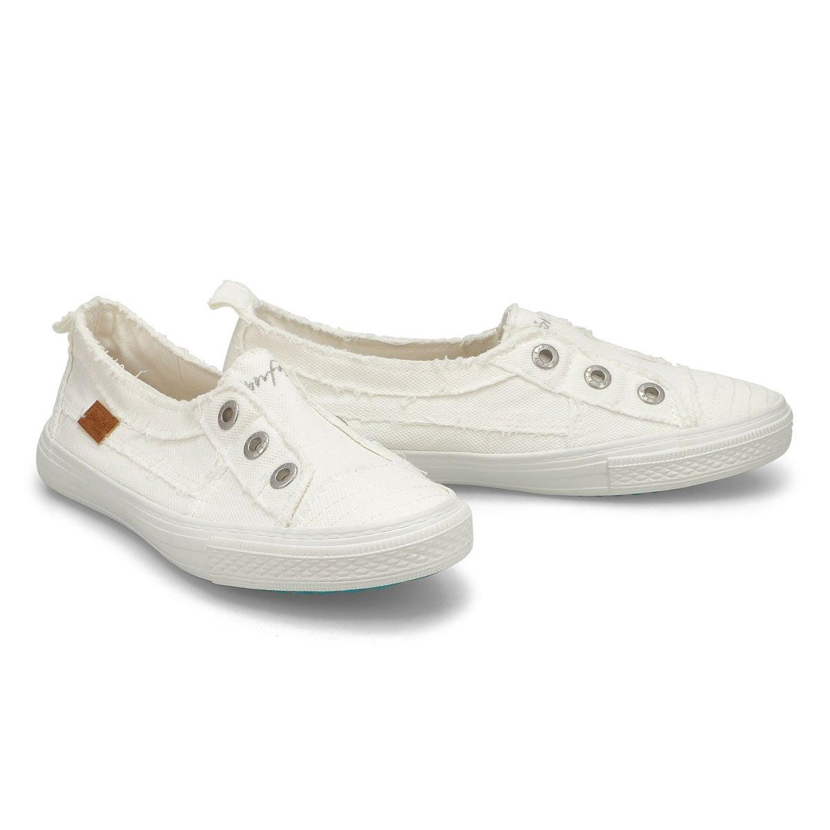 Lds Aussie wht slip on fashion sneakers