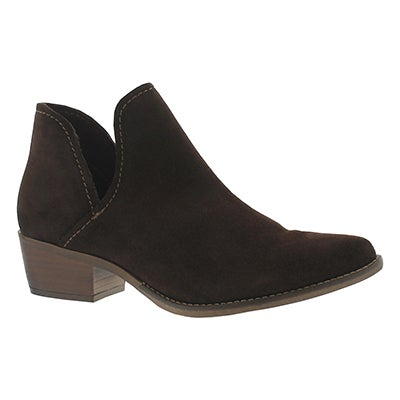 Lds Austin brown slip on ankle boot