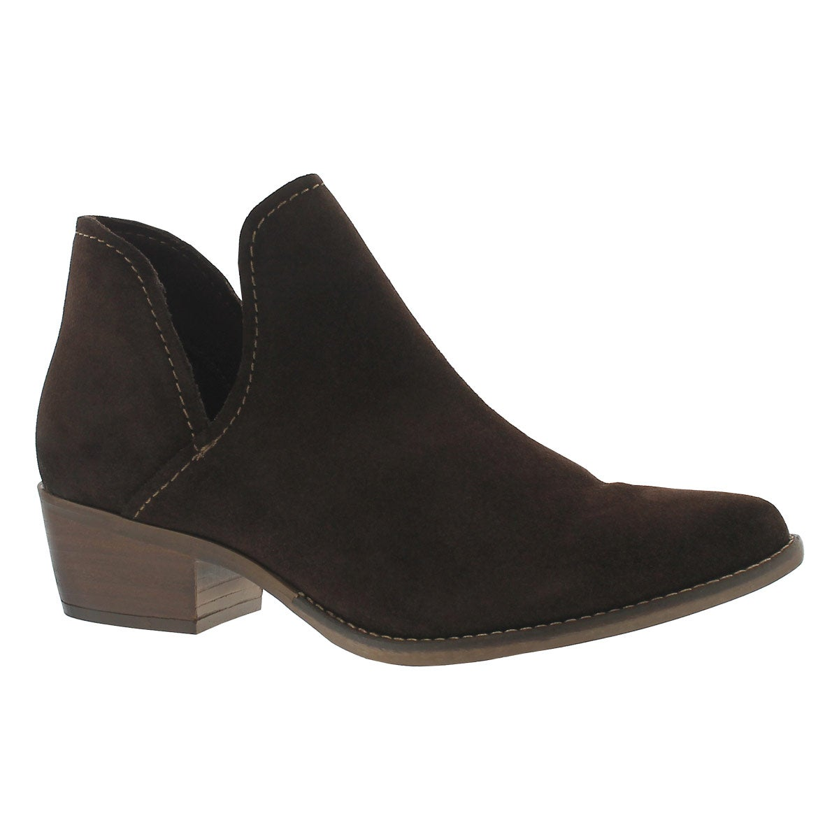 Women's AUSTIN brown slip on ankle boots