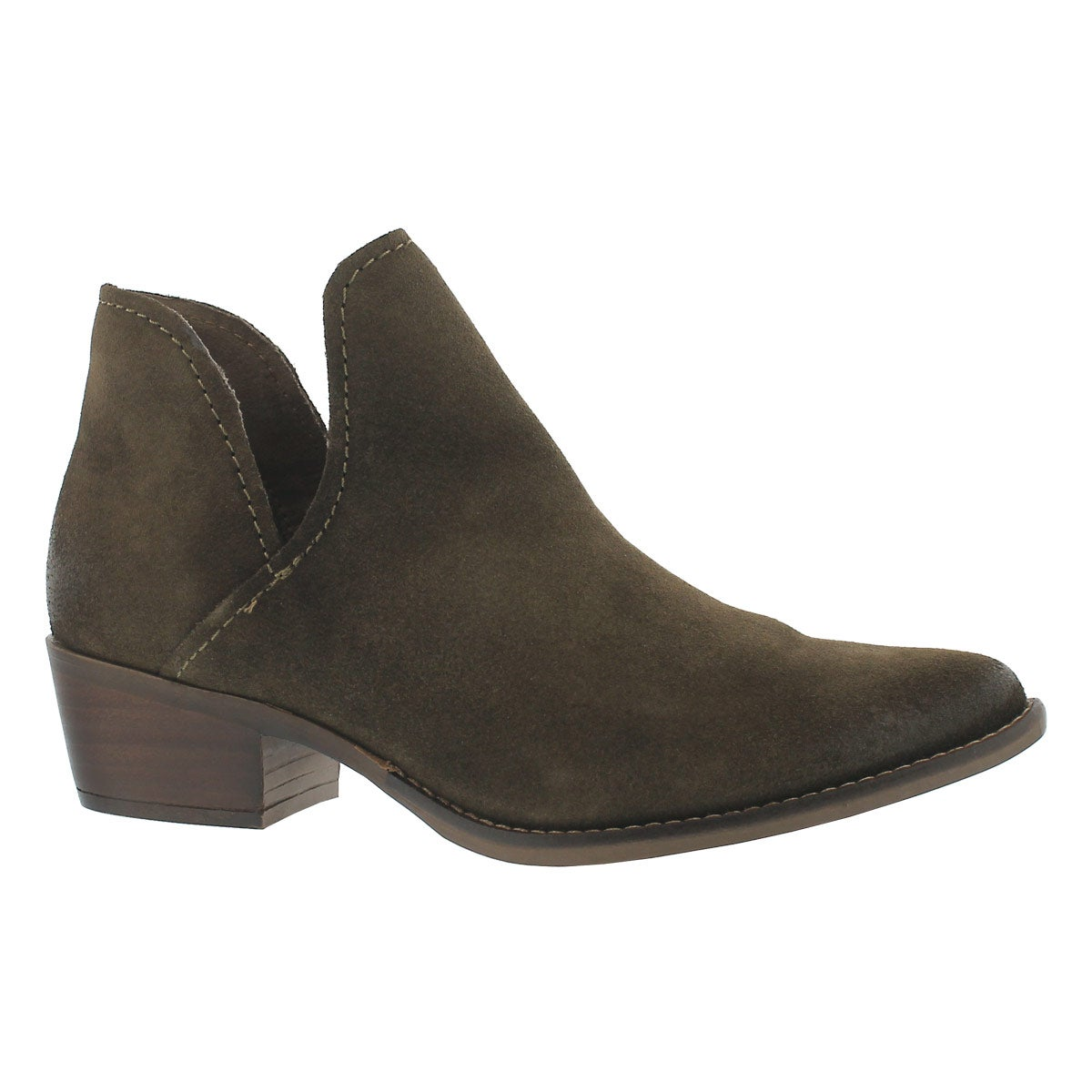 Women's AUSTIN olive slip on ankle boots