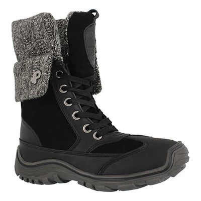 Lds Ava black wtpf winter boot